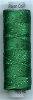 Dazzle 50 Yard Mini Spool of Sue Spargo's Dazzle Thread  TREETOP GREEN