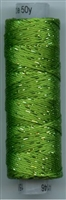 Dazzle 50 Yard Mini Spool of Sue Spargo's Dazzle Thread  GREENERY