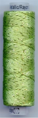 Dazzle 50 Yard Mini Spool of Sue Spargo's Dazzle Thread  Macaw Green