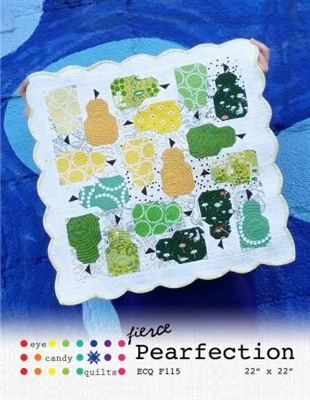 Fierce Pearfection Quilt Pattern from Eye Candy Quilts
