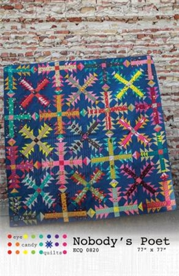 Nobody's Poet Quilt Pattern from Eye Candy Quilts