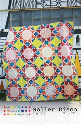 Roller Disco Quilt Pattern from Eye Candy Quilts