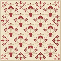 La Vie En Rouge Quilt Pattern by French General