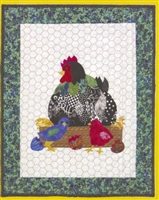 Hilda That Radical Rooster Applique Quilt Pattern
