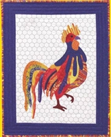 Ricky That Radical Rooster Applique Quilt Pattern