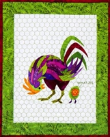 Robert That Radical Rooster Applique Quilt Pattern