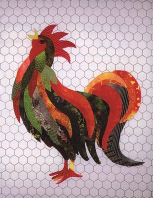 Rock That Radical Rooster Applique Quilt Pattern