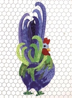 Roger That Radical Rooster Applique Quilt Pattern