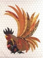 Rupert That Radical Rooster Applique Quilt Pattern