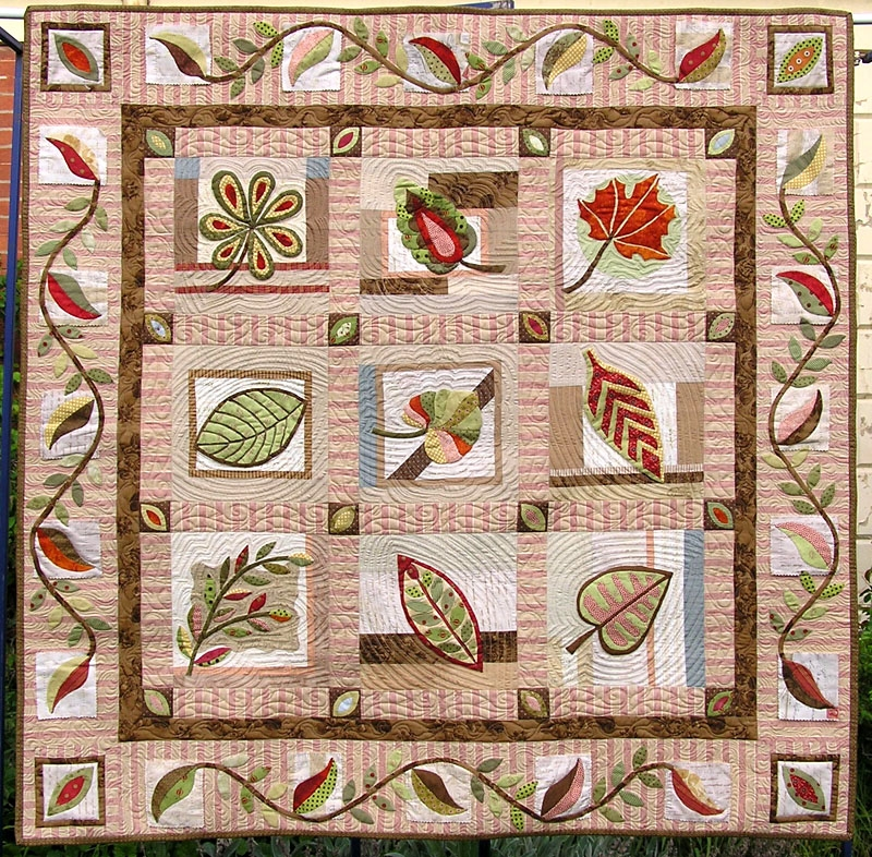 Botanika Applique Quilt Pattern By Irene Blanck