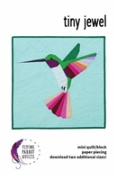 Tiny Jewel Hummingbird Applique Quilt Pattern
