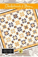 Checkerboard and Stars Quilt Pattern from Fig Tree Quilts