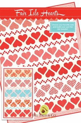 Fair Isle Hearts Quilt Pattern from Fig Tree Quilts