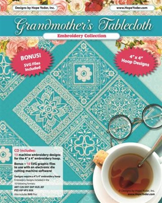 Grandmother's Tablecloth Lace Embroidery Design CD