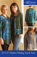 Modern Medley Top & Jacket Pattern from Indygo Junction