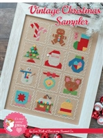 Vintage Christmas Sampler Cross Stitch Pattern from Lori Holt