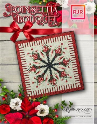Poinsettia Bouquet Quilt Pattern by Judy Niemeyer