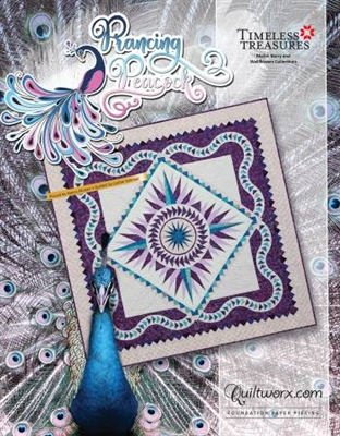 Prancing Peacock Foundation Quilt Pattern by Judy Niemeyer