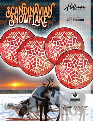 Scandinavian Snowflake Table Topper Pattern by Judy Niemeyer