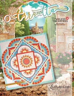 Terracotta Foundation Quilt Pattern by Judy Niemeyer