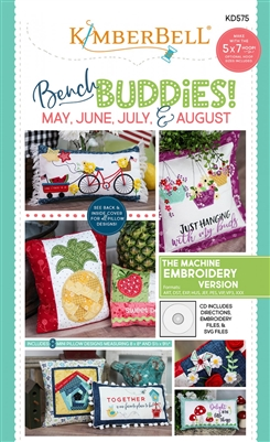 Bench Buddy Series May - August Machine Embroidery CD