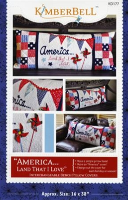 America Land That I Love Bench Pillow from Kimberbell