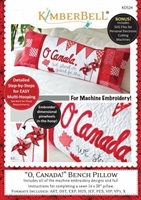 Kimberbell O' Canada! Bench Pillow (Machine Embroidery CD)