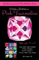 October Birthstone Pink Tourmaline  Pattern Birthstone Series