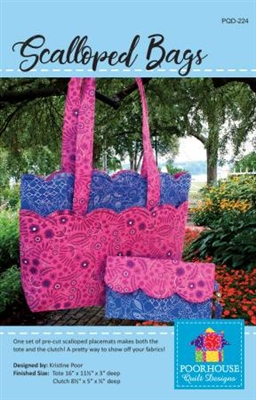 Scalloped Bags Pattern by Poorhouse Designs