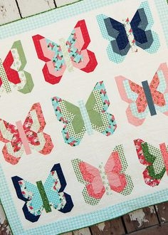 Social Butterfly Quilt Pattern from Lella Boutique