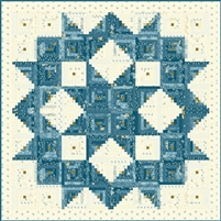 New Blue Broken Star Quilt Pattern from Edyta Sitar