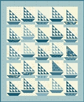 Deep Blue Sea Quilt Pattern by Edyta Sitar of Laundry Basket Quilts