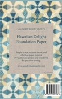 Blue Hawaiian Delight Quilt Foundation Papers  by Edyta Sitar -Laundry Basket Quilts