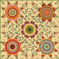 Pennsylvania Star Quilt Pattern by Edyta Sitar of Laundry Basket Quilts