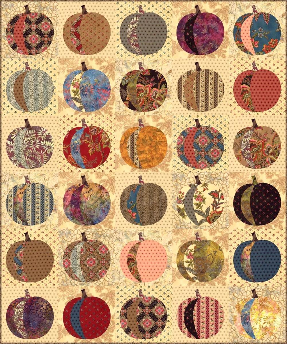 Pumpkin Applique Quilt Pattern & Stencil Set from Laundry Basket ... : pumpkin quilt pattern - Adamdwight.com
