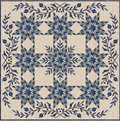 Snowflake Star & Applique Quilt Pattern by Edyta Sitar