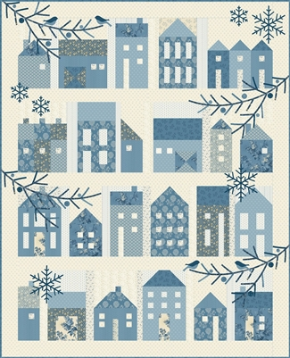 Winter Village Quilt Top Kit by Edyta Sitar -Laundry Basket Quilts