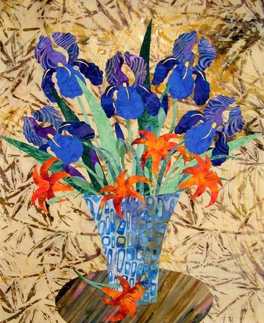 Iris Applique Quilt Pattern