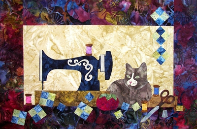 Sewing Cat Quilt Pattern by Edyta Sitar Laundry Basket Quilts