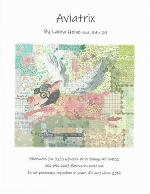 Aviatrix Collage Quilt Pattern by Laura Heine (Pigs Fly)
