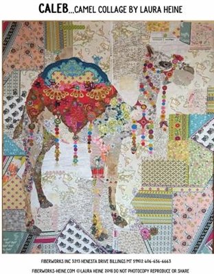 Caleb the Camel Collage Quilt Pattern by Laura Heine