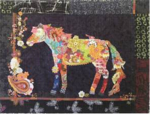 Confetti Horse Collage Quilt Pattern
