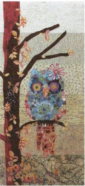 Cora the Common Owl  Collage Quilt Pattern