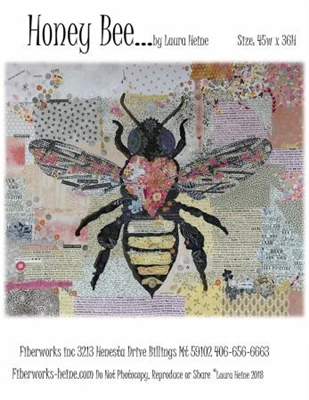 Honey Bee Collage Pattern from Laura Heine