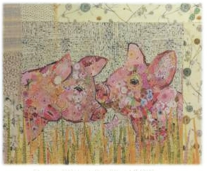 Lola and Olive Pigs Collage Quilt Pattern