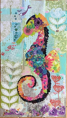 Mini Havana Seahorse Collage Quilt Pattern by Laura Heine