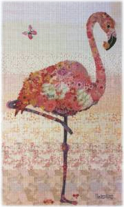Pinkerton Flamingo Collage Quilt Pattern