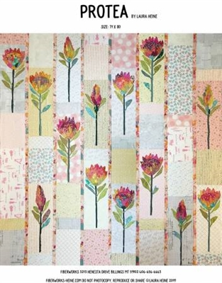Protea Collage Pattern from Laura Heine