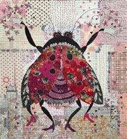 Scarlett The Lady Bug Collage Pattern by Laura Heine