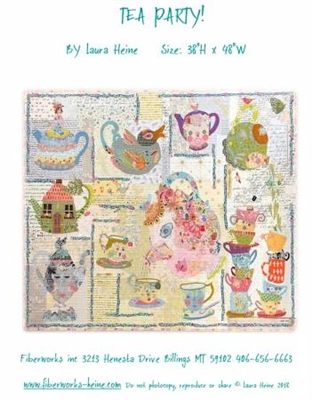 Tea Party Collage Pattern from Laura Heine